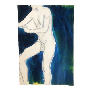 Standing Modern Male Nude by James Bone, 1990s For Sale