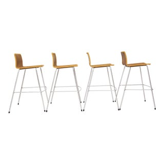 Modern Umanoff Style Set of 4 Tall Vintage Bar Stools Australia For Sale