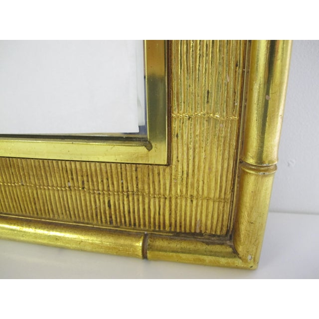 Syroco 1960s Boho Chic Syroco Faux Bamboo Mirror For Sale - Image 4 of 10