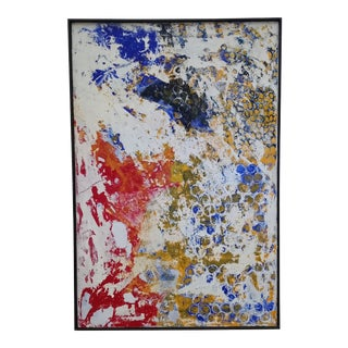 Contemporary Abstract Expressionist Acrylic Painting by Kelly Caldwell, Framed For Sale
