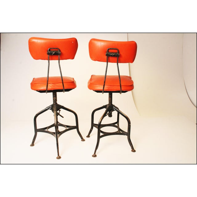 Vintage Industrial Toledo Drafting Stools - A Pair - Image 6 of 11