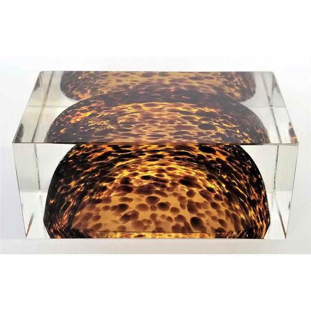 Exquisite Murano Glass Tortoiseshell Bowl by Alessandro Mandruzzato For Sale - Image 11 of 13