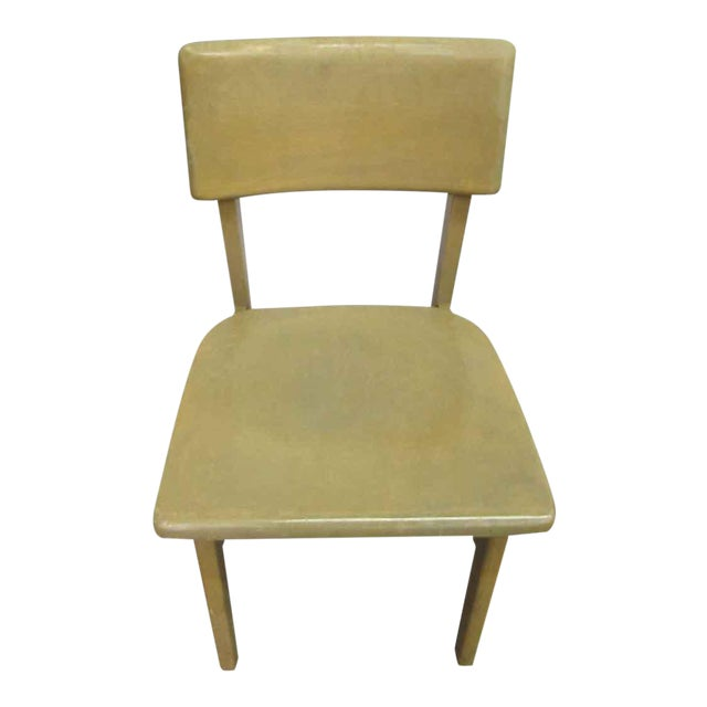 Solid Maple School Chair For Sale