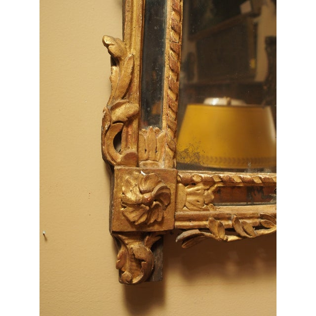 Late 18th Century Epoch Louis XVI Gilt Wood Mirror For Sale - Image 5 of 9