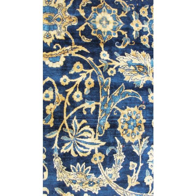"""Blue Antique Persian Laver Kerman Carpet, 8'5"""" X 11'7"""" For Sale - Image 8 of 9"""