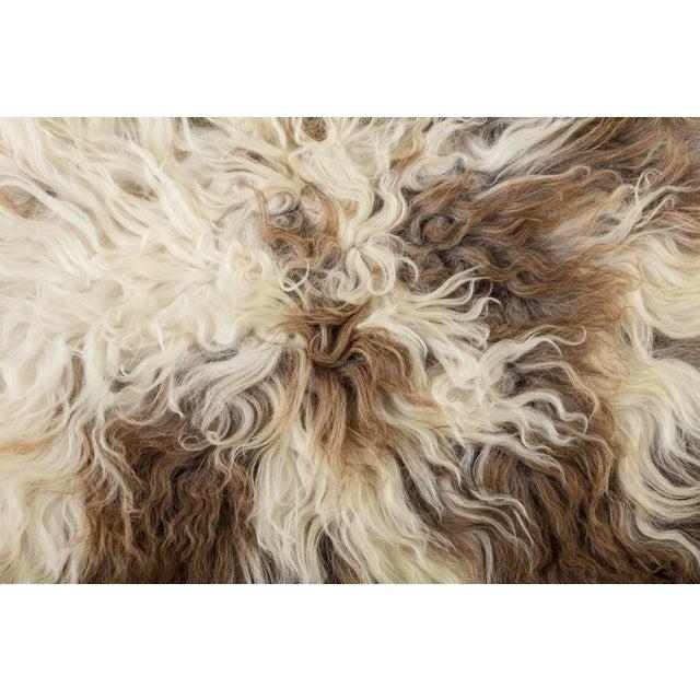 "2010s Contemporary Handmade Wool Sheepskin Pelt Rug - 2'0""x2'9"" For Sale - Image 5 of 7"