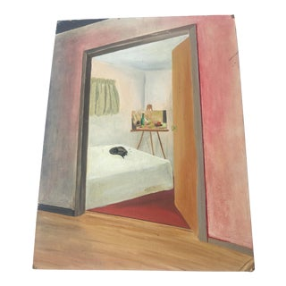 1965 My Bedroom Painting by Kathryn For Sale