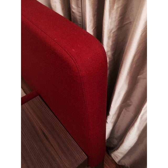 Design Within Reach Red Upholstered Wide Bed - Image 5 of 8