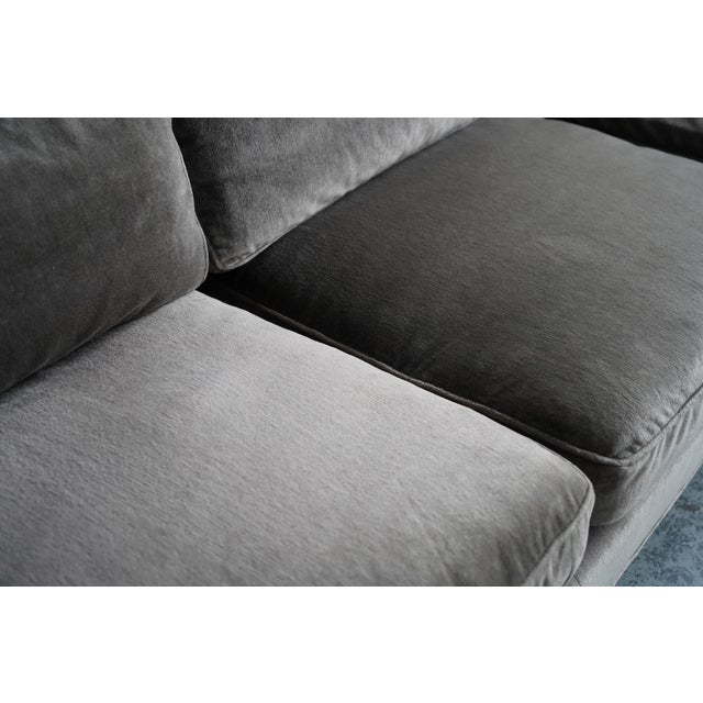 Contemporary Harvey Probber Green Down Sofa For Sale - Image 3 of 5
