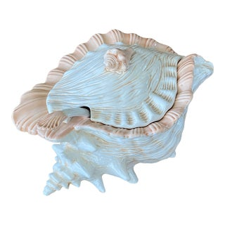 Vintage CoastalConch Shell Tureen For Sale