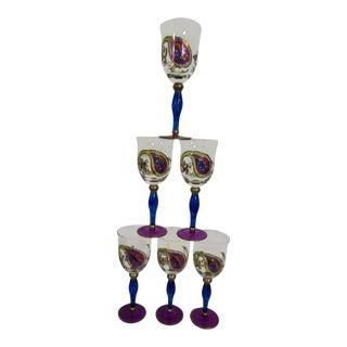 Kaleidoscope Crystal Wine Glasses Set of 6