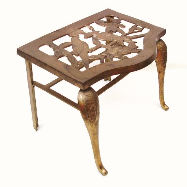 Fireplace Stool Hearth Trivet Brass Footman - Image 4 of 8