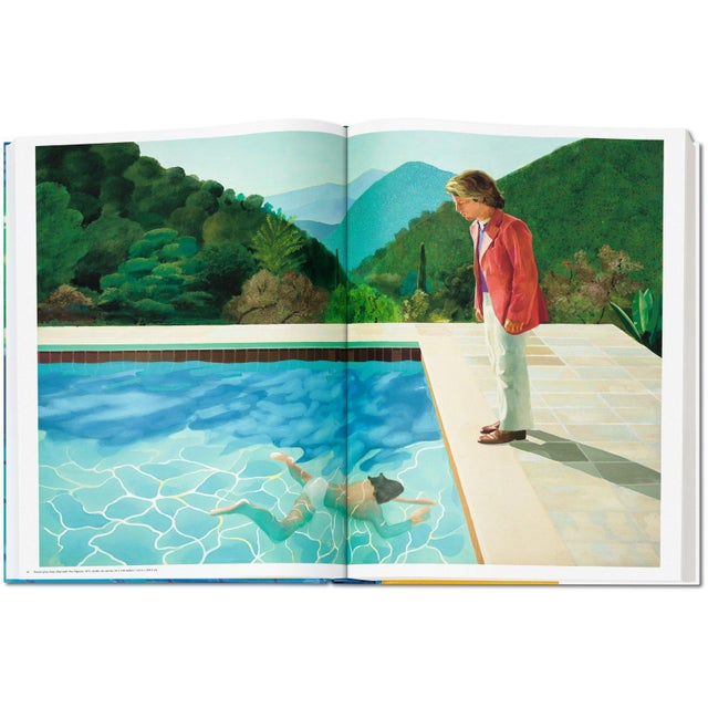 """Blue Autographed David Hockney """"A Bigger Book"""" Painting Collection with Book Stand Collector's Edition For Sale - Image 8 of 13"""