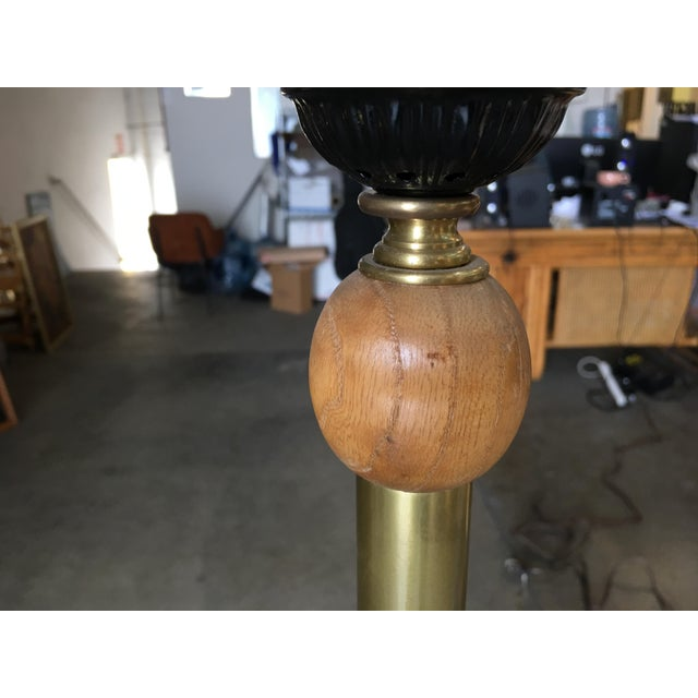 1950s Heifetz Style Hand-Carved Abstract Torchiere Floor Lamp For Sale - Image 5 of 9