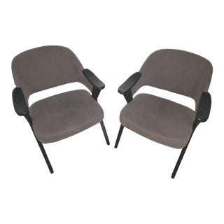 Asiades Mid-Century Modern Style Side Chairs - A Pair