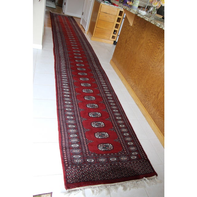 Pakistan Bokhara Hand-Knotted Runner - 2′8″ × 20′ - Image 2 of 7