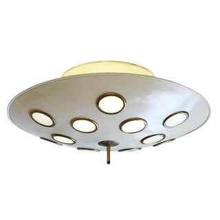 Saucer Flush Mount Chandelier Attributed to Arredoluce, Italy, 1950's For Sale