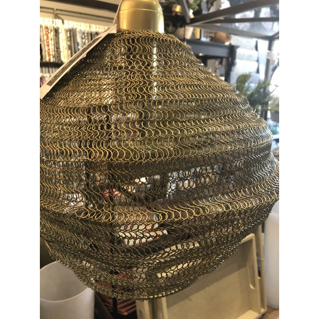 Industrial Copper Mesh Pendant from Kenneth Ludwig Home For Sale - Image 3 of 6