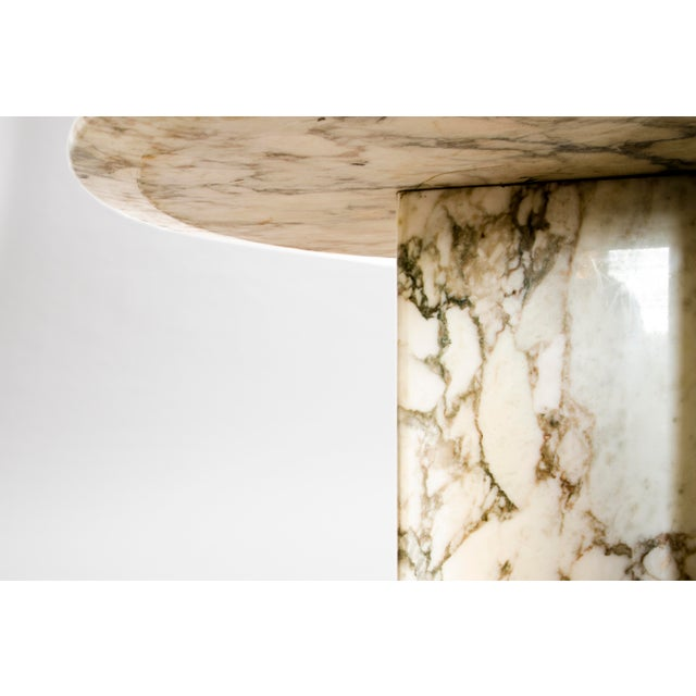 Stone Made to Order Italian Calacatta Marble Round Dining / Center Table For Sale - Image 7 of 10