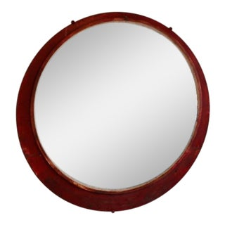 1950s Large Antique Convex Mirror For Sale