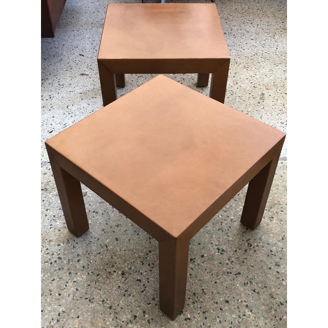 1960s A Pair of Classic Leather Occasional Tables For Sale - Image 5 of 8