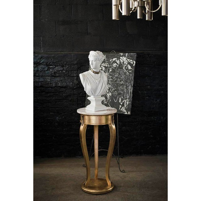 Tall Gilt and Marble Regency Pedestal Stand - Image 5 of 6