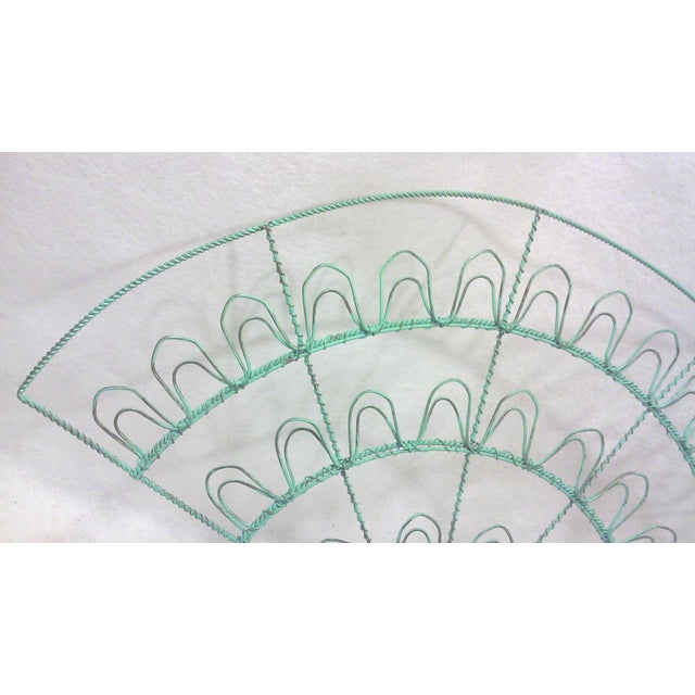 Verdigris Wire Fan Card Display - Image 4 of 5