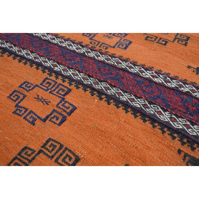 """Vintage Afghan Sumak Kilim Runner - 2' x 5'3"""" - Image 4 of 6"""