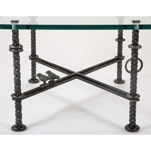 Late 20th Century Patinated Wrought Iron Coffee Table by Llana Goor For Sale - Image 5 of 13