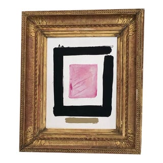 Modern Oil Painting in 18th Century Gesso Gilt Frame For Sale
