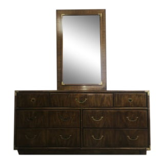 Vintage Drexel Heritage Accolade Collection Dresser and Mirror For Sale