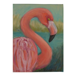 Pink Flamingo Oil Painting