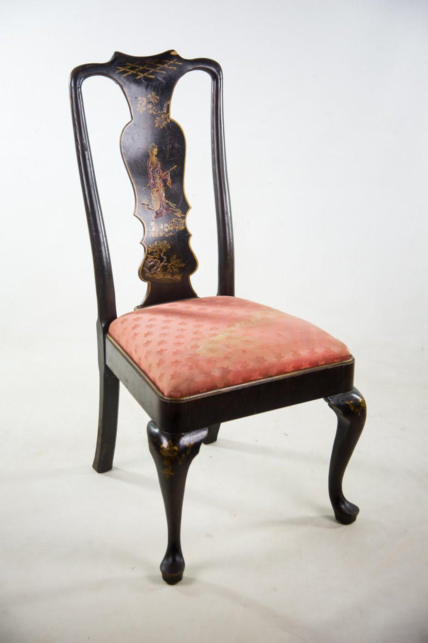 Chinoiserie Queen Anne Chairs   A Pair   Image 7 Of 11