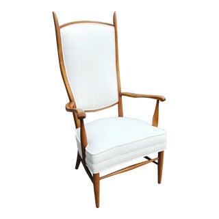 1970s Mid Century Edward Wormley for Dunbar High Back Armchair For Sale