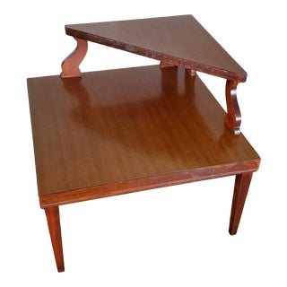 1990s Mid Century Modern 2 Tiers End Table For Sale