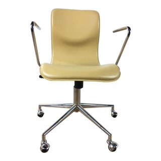 Crate & Barrel 2 Chrome Office Chair