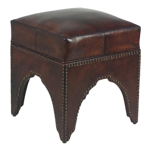 Sarried Ltd Dark Brown Giuseppe Footstool For Sale