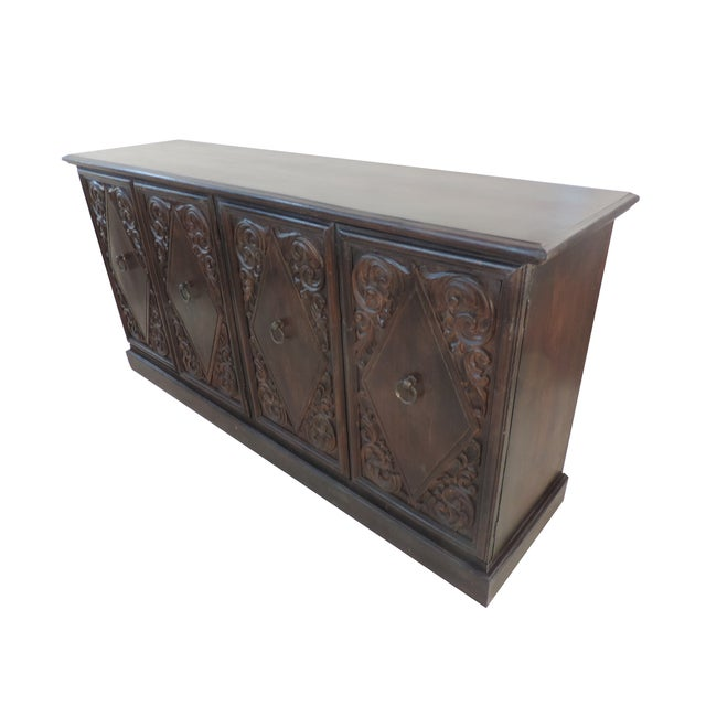 Spanish Colonial Carved Sideboard - Image 2 of 9