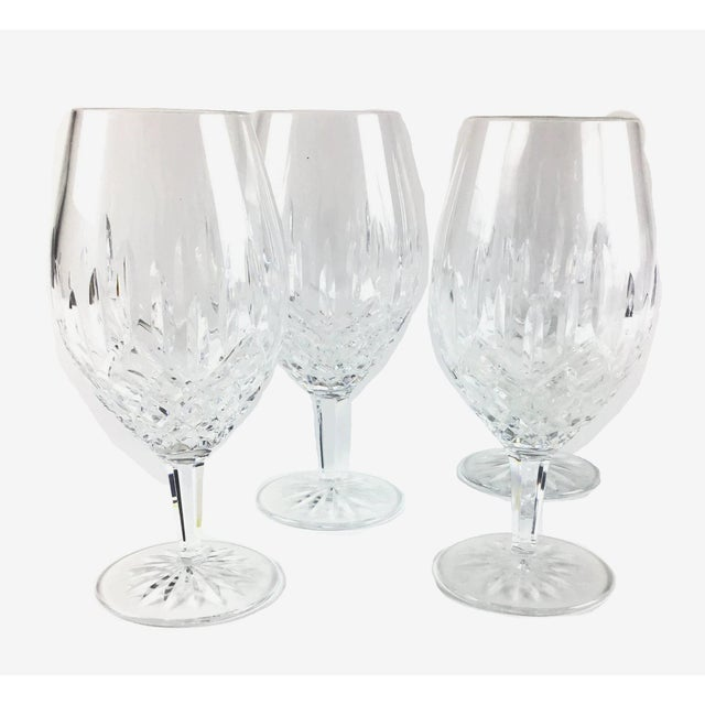 American Cut Crystal Heavy Water Glasses - Set of 4 For Sale - Image 3 of 10