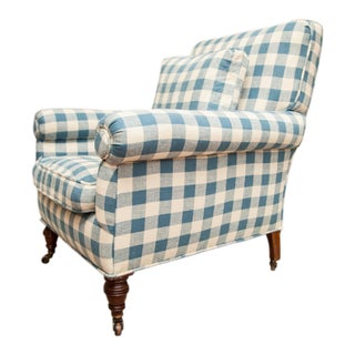 19th Century English Traditional Library Armchair For Sale