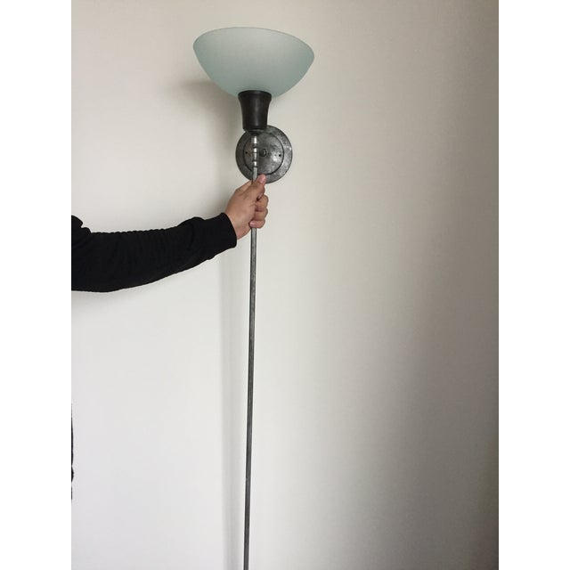 Modern Custom Torchiere Lamp by Jerrystyle For Sale - Image 3 of 8