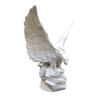 Vintage Italian Blanc De Chine Eagle Statue For Sale