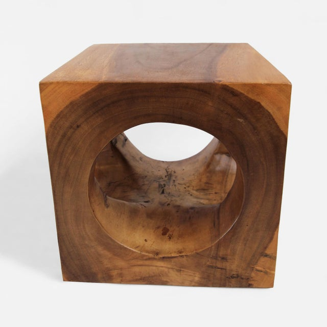 408b7f5839 Contemporary Modern Cube Hole Stool/Side Table For Sale - Image 3 of 4