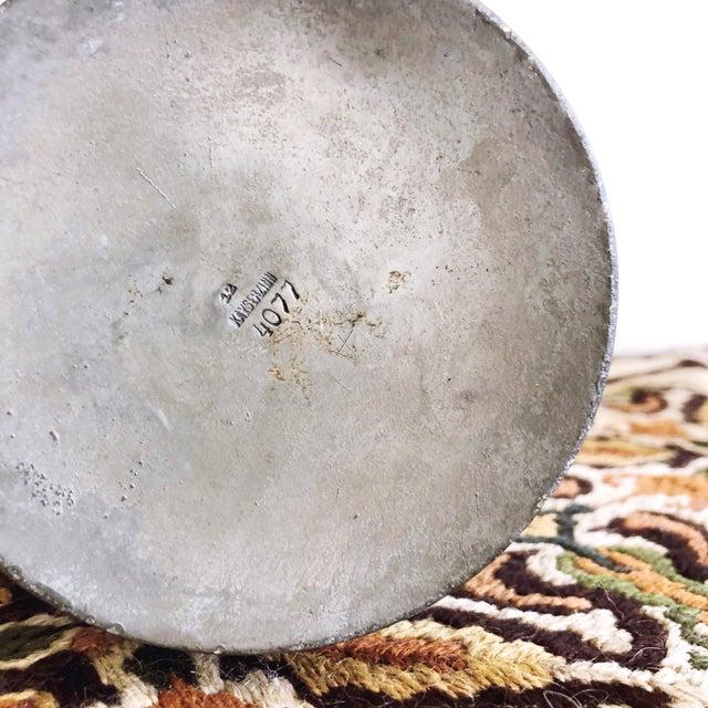 "Metal Antique Kayserzinn Art Nouveau Pewter Vases ""4077"" - a Pair For Sale - Image 7 of 8"