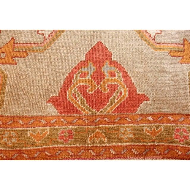 Square antique Turkish Oushak rug 49061, country of origin/rug type: Turkish rugs, circa date: 1920, showcasing an...
