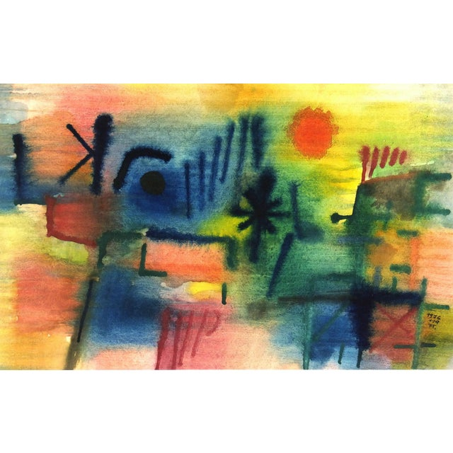 Vintage Abstract Painting, 1976 - Image 1 of 4