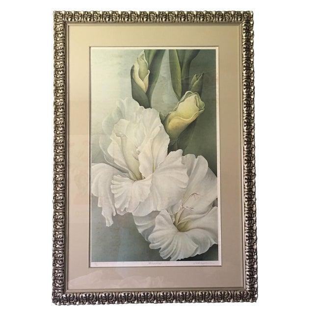 Silver Leaf Iris Flower Print - Image 1 of 3
