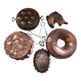 Copper Escargot Kitchen Collection - Set of 7