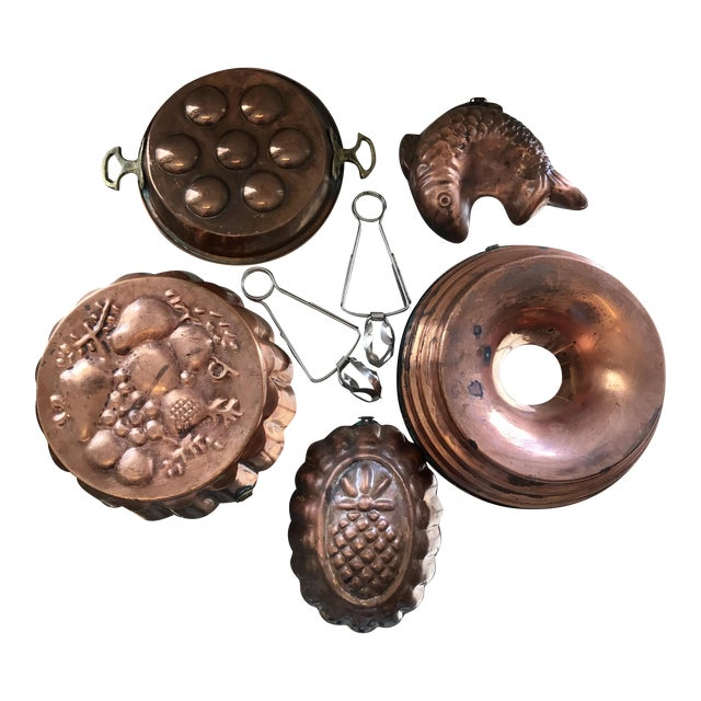 Copper Escargot Kitchen Collection - Set of 7 For Sale