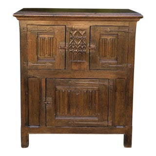 Early 19th Century Dutch Gothic Cabinet For Sale